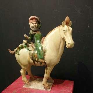 Ceramic Horse with rider