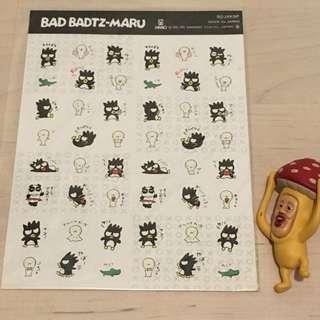 (包郵) Sanrio 93,95 可愛 XO 貼紙