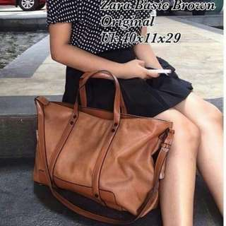 SUPER SALE!!!! ZARA BASIC ORIGINAL tote bag tas import wanita