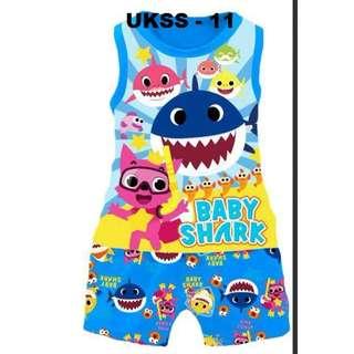 Baby Shark Sleeveless Tshirt/Short Set