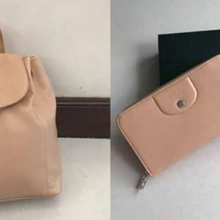 Longchamp bag & wallet set