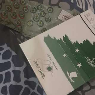2 STARBUCKS PLANNER(Orange Tan and Complete sticker card!!!