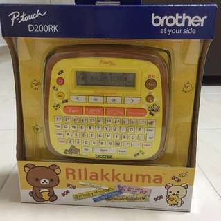 Rilakkuma P-Touch D200RK Brother Label Printer
