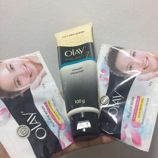 Olay Total Effects 7 in 1 and Olay Natural White Pinkish Fairness Whitening Cream