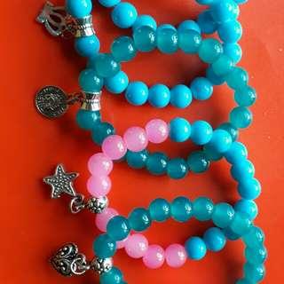 Glass Beads Charm Bracelwt
