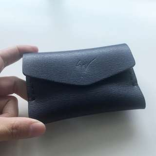 【Giuseppe Zanotti】Leather Coin Purse Card Holder Navy 散紙包 深藍
