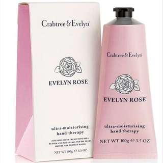 100g Crabtree & Evelyn Hand Cream : Evelyn Rose