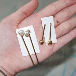 Two in One Price, Earring Pearl and gold