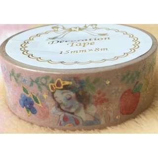 日本版 - Disneystore Princess Snow White Masking tape 迪士尼白雪公主燙金膠帶 15mmx8m