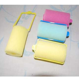 Roll Rambut Sponge Rainbow (isi 4)