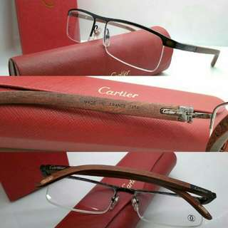 Frame Kacamata Cartier wood 1369