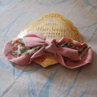 Jepitan Rambut Pink Motif Bunga