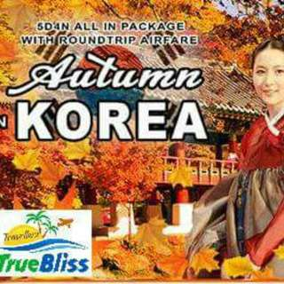 5D4N AUTUMN IN KOREA ALL IN PACKAGE WITH ROUNDTRIP AIRFARE