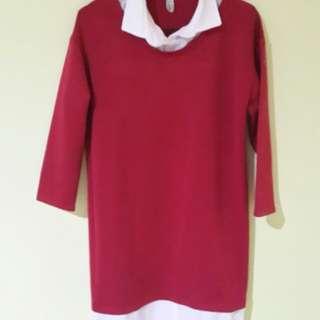 Loose Red Dress