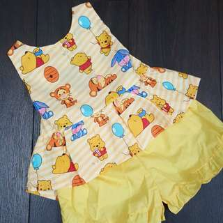 🎈pooh & friends yellow big bow 🎀 set