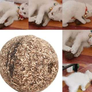 (instock) catnip toy ball treat