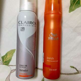 Wella Clairol salon professional styling spray and leave-in conditioner