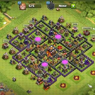 Lv124 TH10 Clash Of Clans Account