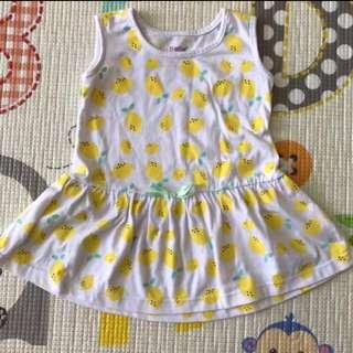 BeBe Lemon Yellow Dress (6-9M)