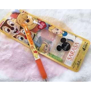 日本版 - Zebra SARASA Clip x Disney Winnie the pooh pen 斑馬牌X迪士尼小熊維尼墨水筆 0.5
