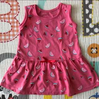 BeBe Watermelon Pink Dress (6-9M)