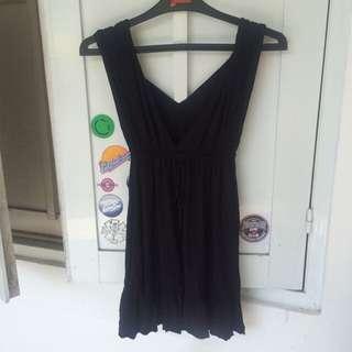 Cute Greeky Little Black Mini Dress