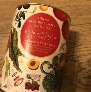 [全新低放] 英國製造 green rooibios peach 不含咖啡因 南非博士蜜桃茶 共15包