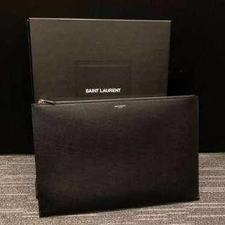 Saint Laurent YSL 男裝黑色大size clutch
