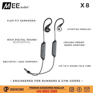 MEE Audio X8 Secure-Fit Stereo Bluetooth Wireless Sports In-Ear Headphones