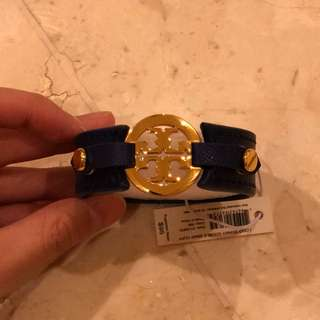New Authentic TORY BURCH Logo Double Snap Bracelet