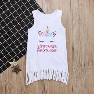 Unicorn dress skirt baby girl kid infant toddler