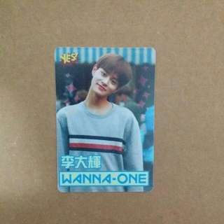 《Yes》29th yescard - Wanna One 李大輝 夜光 #2906(L)