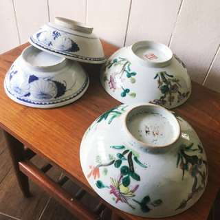 Antique 1920-40s Chinese Bowls