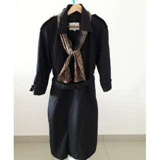 CLASSIC LONDON FOG TRENCH COAT with Scarf