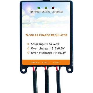 Solar Charge Controller Regulator 7 amp Sunway Solar Panels Charge Controller Battery Regulator 7A For 12Volt Solar Battery Charger, Solar Battery Maintainer and 12V Batteries Power Kit Safe Protection