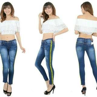 Celana jeans wanita Ariana Pants Celana jeans off white jeans list