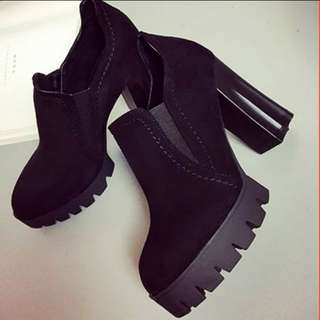 Hot Black High Heel Boots Shoes