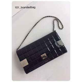 Chanel Choco Bar Clutch On Chain