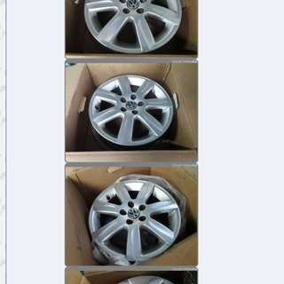 Polo 5x100 Stock Rim Like New