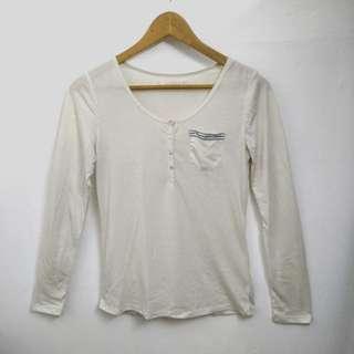 ❣ 6ixty 8ight 民族風米色長袖衫