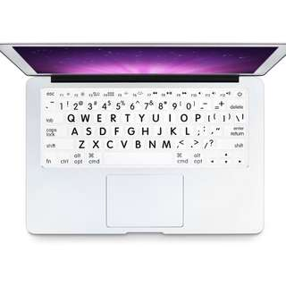 [Instocks] Big Letters White Silicone Soft Keyboard Cover Skin Protector for Apple Macbook 13/15 Inch/ Wireless IMac Keyboard
