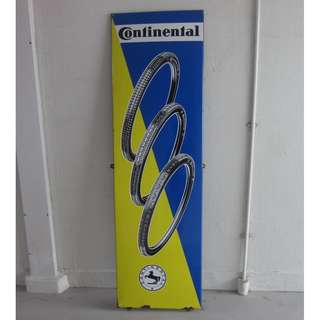 Continental Bicycle Tire Enamel Signage