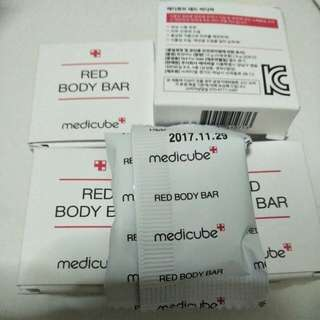 Instock Medicube Red Body Bar Travel Size Soap