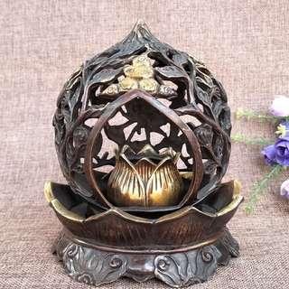 銅蓮花香爐