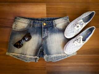 Repriced!!! Faded Denim Shorts