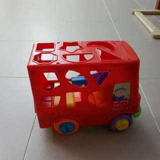 Shape sorting bus, toy stroller, toy dyson, ikea toy