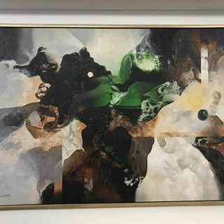 Impressive large abstract Oil Painting