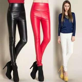 skinny pu leather pants