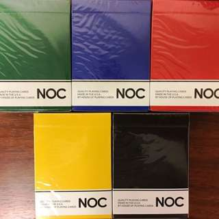 NOC Playing Cards  5 colors set