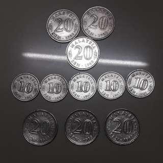 Syiling lama 20sen & 10sen